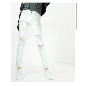 Express Jeans Ankle Legging High Rise White 12
